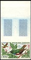 W.A.S. Calalog : Birds Imperf. Sets of 3 Values With Margin  - 1963 - Gabon -  Faunes & Flores, Animaux
