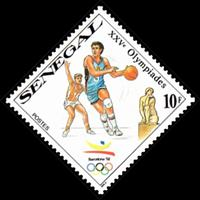 W.A.S. Calalog : Summer games of 1992 in barcelona  1990 - 1990 - Sénégal -  Sport, Jeux Olympiques