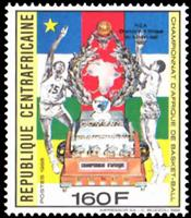 W.A.S. Calalog : Win the basketball-african championship 1987 through the central african republic   1989 - 1989 - République de centrafrique -  Sport
