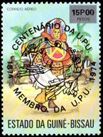 WAS Calalog - 100th anniversary of the U.P.U., Reception of Guinea-Bissau in the World Postal Union 1874-1974 - Black imprint  1976 - 1 - 1976