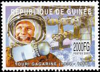 W.A.S. Calalog : Space travel (Gagarine-Armstrong) 2002 - 2002 - Guinée -  Personnages célèbres