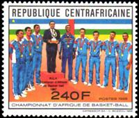 WAS Calalog - Win the basketball-african championship 1987 through the central african republic   1989 - 1 - 1989