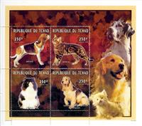 W.A.S. Calalog : Cats & Dogs - 1996 - Chad -  Animaux