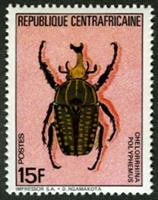 W.A.S. Calalog : Beetles 1985 - 1985 - Republic of Central Africa -  Faunes & Flores