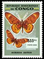 W.A.S. Calalog : Butterflies (3999) - 2007 - Democratic Republic of Congo -  Faunes & Flores