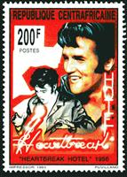 W.A.S. Calalog : Elvis Presley - 1993 - Republic of Central Africa -  Personnages célèbres