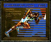 W.A.S. Calalog : Olympic Games Los Angeles 1984 , Gold issue - 1982 - Tchad -  Jeux Olympiques, Sport