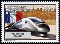 W.A.S. Calalog : High-Speed Trains 2012 (6038) - 2012 - Democratic Republic of Congo -  Transports