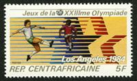 W.A.S. Calalog : Olympic Games of Summer of Los Angeles 1982 - 1982 - Republic of Central Africa -  Sport, Jeux Olympiques