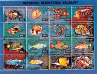 W.A.S. Calalog : Sea Animals  1993 - 1993 - Madagascar -  Animaux, Faunes & Flores