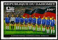 W.A.S. Calalog : Dahomey Munich world cup football imperf. and perf. - 1974 - Rep. Dahomey  -  Football / Soccer