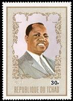 W.A.S. Calalog : President Tombalbaye  1972 - 1972 - Chad -  Personnages célèbres