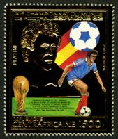 W.A.S. Calalog : World Footbal Cup 1982 (Platini-Rossi) GOLD - 1983 - Republic of Central Africa -  Sport