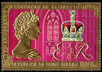 W.A.S. Calalog : 25th Anniversary of the Coronation of Queen Elizabeth II – GOLD  1978 - 1978 - Guinea Bissau -  Personnages célèbres, Evénements historiqu