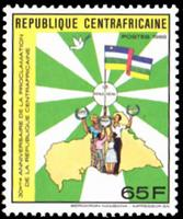 W.A.S. Calalog : 30 years of republic  1988 - 1988 - Republic of Central Africa -  Evénements historiqu