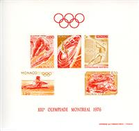 WAS Calalog - MONACO 1976 J.O Montreal color proof (1501) - olympic games - 1976