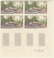 W.A.S. Flash sale of - STAMPS IMPERF. WITH MARGINS - N°Michel N°Michel : 309/310 - Set of 3 stamps block of 4 with margin  - 1955 - CAMEROON