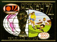 W.A.S. Calalog : REP. KHMER 1973 Munich football world cup gold imperf. set and sheetlet - 1973 - Khmer -  Football / Soccer