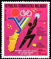 W.A.S. Calalog : Games of the cities on Indian ocean  1987 - 1987 - Madagascar -  Jeux Olympiques, Sport