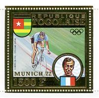 W.A.S. Calalog : TOGO 1973 J.O Munich 1972 Gold stamps and deluxe sheet - 1973 - Togo -  Jeux Olympiques