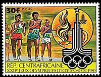 W.A.S. Calalog : Olympic Games of Summer of Moscou (IV) 1980 - 1980 - Republic of Central Africa -  Jeux Olympiques, Sport