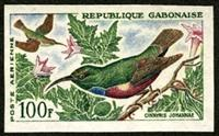 W.A.S. Calalog : Birds Imperf. Sets of 3 Values - 1963 - Gabon -  Faunes & Flores, Animaux
