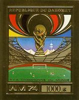 WAS Calalog - Dahomey Munich world cup football gold imperf. and perf. - football - 1974