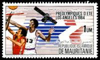 W.A.S. Calalog : Olympic Games Los Angeles 84 - 1983 - Mauritanie -  Jeux Olympiques, Sport