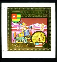 W.A.S. Calalog : TOGO 1973 conquest of space gold stamp and deluxe sheet - 1973 - Togo -  Espace
