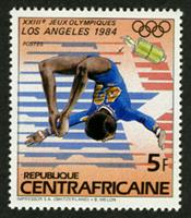 W.A.S. Calalog : Olympic Games of Summer of Los Angeles 1982 II - 1983 - Republic of Central Africa -  Sport, Jeux Olympiques