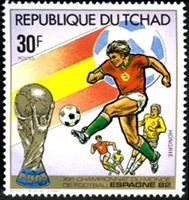 W.A.S. Calalog : Spain Soccer Worldcup 1982 - 1982 - Tchad -  Football / Soccer