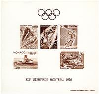 W.A.S. Calalog : MONACO 1976  J.O Montreal deluxe sheet brown - 1976 - Monaco -  Jeux Olympiques
