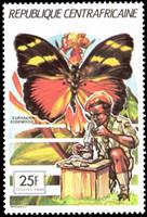 W.A.S. Calalog : Pathfinder movement: butterflies  1990 - 1990 - Republic of Central Africa -  Faunes & Flores, Scoutisme