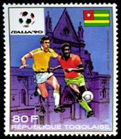 W.A.S. Calalog : Football World Cup Italy 1990 - 1989 - Togo -  Football / Soccer