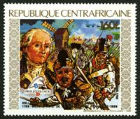 W.A.S. Calalog : Anniversary of the French Revolution ; International Philatelic Philexfrance 1989 - 1989 - République de centrafrique -  Evénements historiqu