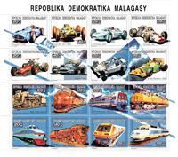 W.A.S. Calalog : Racing Cars and Locomotives  1993 - 1993 - Madagascar -  Transports