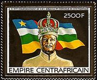 W.A.S. Calalog : Coronation of jean bedel bokassa as empereur of Central Africa II  GOLD - 1977 - Republic of Central Africa -  Personnages célèbres