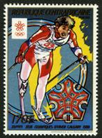 W.A.S. Calalog : Winter Olympics Games of Calgary 1988 - 1988 - Republic of Central Africa -  Sport, Jeux Olympiques