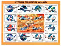 W.A.S. Calalog : Airplaines and airlines  1993 - 1993 - Madagascar -  Transports