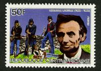 W.A.S. Calalog : Personalities 1984 II (Lincoln-Piccard-Daimler-Blériot-Karpow-Dunant) - 1984 - Republic of Central Africa -  Personnages célèbres