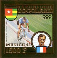 W.A.S. Calalog : TOGO 1973 J.O Munich 1972 imperforate gold stamps and deluxe sheets - 1973 - Togo -  Jeux Olympiques