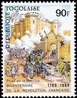 W.A.S. Calalog : Anniversary of the French Revolution 1989 - 1989 - Togo -  Evénements historiqu