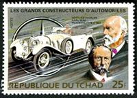 W.A.S. Calalog : Luxury Cars & Founders - 1983 - Chad -  Transports, Personnages célèbres