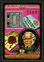 W.A.S. Calalog : Anniversary of Rowland Hill 1978 GOLD - 1978 - Republic of Central Africa -  Personnages célèbres