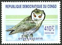 W.A.S. Calalog : Raptors & Owls - 2003 - Democratic Republic of Congo -  Animaux, Faunes & Flores