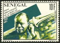 W.A.S. Calalog : Louis Armstrong , 20 th death anniversary  - 1991 - Sénégal -  Personnages célèbres, Music Hall