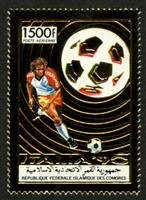 W.A.S. Calalog : Football worlcup italia 90  GOLD - 1989 - Comores -  Football / Soccer