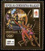 W.A.S. Calalog : olympics games of albertville 1992  - 1990 - 1990 - Madagascar -  Jeux Olympiques, Sport