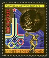 W.A.S. Calalog : Summer Olympics Games of Moscow 1979  GOLD - 1979 - Republic of Central Africa -  Sport, Jeux Olympiques