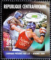 W.A.S. Calalog : Olympic Games of Athen 2004 - 2003 - Republic of Central Africa -  Jeux Olympiques, Sport